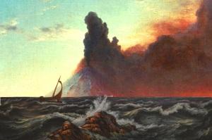 Knud Baade island Baade and frederick edwin church - volcanic island